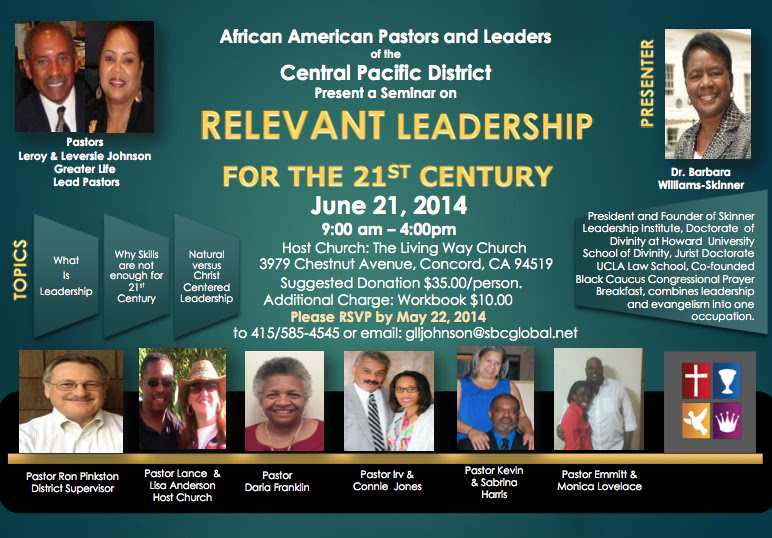 African American Relevant Leadership for the 21st Century Seminar June 21 All Day